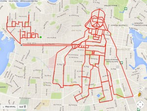 Stephen Lund's work on Strava art